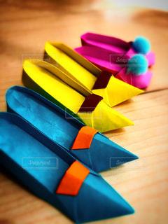 折り紙のパンプスの写真・画像素材[3365529]
