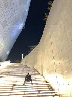 光の階段の写真・画像素材[2738632]
