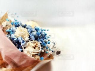 ブルーの花束の写真・画像素材[3084317]