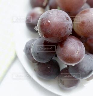 皿の上の果物のクローズアップの写真・画像素材[3747654]
