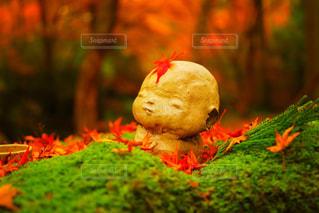 秋のお地蔵さんの写真・画像素材[2511145]