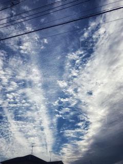 空に雲の群しをするの写真・画像素材[2452719]