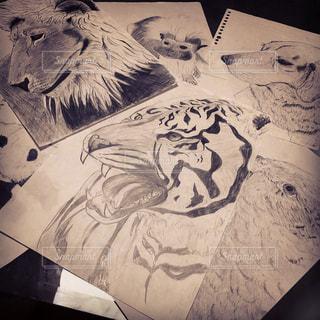 動物,モノクロ,本,アート,絵画,漫画,テキスト,暇つぶし,スケッチ,図面,描いてみた,図