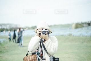 フィルムと女の子の写真・画像素材[3378132]