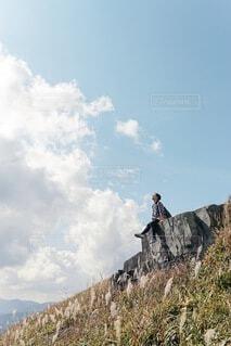 丘の上の写真・画像素材[3617611]