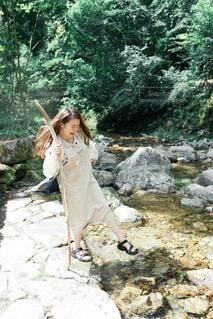 川遊びの写真・画像素材[3662400]