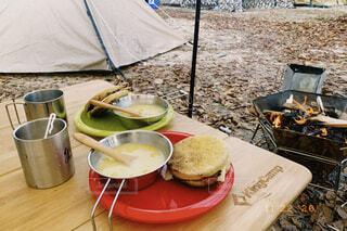 キャンプ飯の写真・画像素材[4331063]