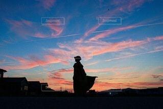夕焼けと風の写真・画像素材[4738118]