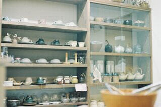 素敵な食器棚の写真・画像素材[3900522]
