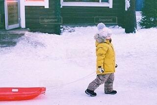 子どものウィンタースポーツの写真・画像素材[4055763]