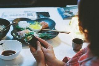 節分は手巻き寿司パーティーの写真・画像素材[4116219]