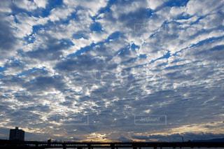 秋のうろこ雲の写真・画像素材[2418709]