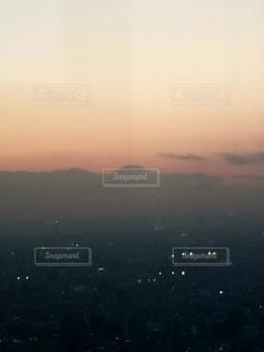 自然,風景,空,富士山,夜空,屋外,太陽,夕暮れ,山,影,シルエット,オレンジ,光,展望台,サンセット
