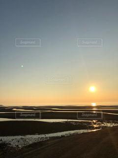 海,空,太陽,砂浜,夕暮れ,海岸,光