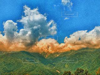 白馬の山の写真・画像素材[2395797]