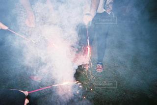 夏,夜,花火,煙,フィルム,友達,フィルム写真,フィルムフォト