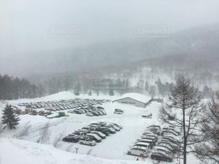 自然,アウトドア,冬,スポーツ,雪,屋外,駐車場,霧,山,樹木,人物,スキー,スノボ,ゲレンデ,レジャー,スキー場,スノーボード,斜面,ウィンタースポーツ,覆う,寒空