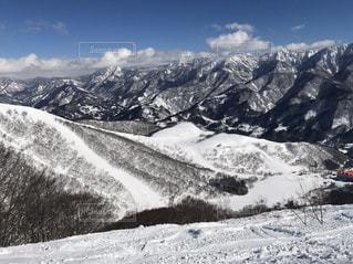自然,風景,アウトドア,空,スポーツ,雪,屋外,晴れ,雪山,冬景色,雪景色,山,人物,山頂,ゲレンデ,高原,眺望,レジャー,天気,スキー場,斜面,ウィンタースポーツ,山腹