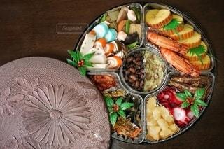 円形おせち料理の写真・画像素材[2872806]