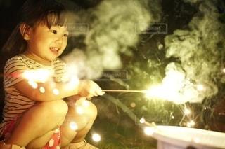 楽しい手持ち花火。の写真・画像素材[3612267]