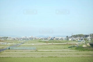のどかな田園風景の写真・画像素材[4332212]