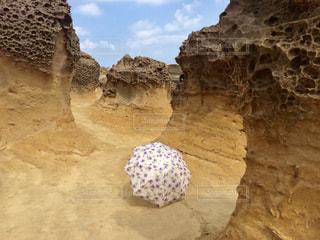 傘,アート,岩,旅行,旅