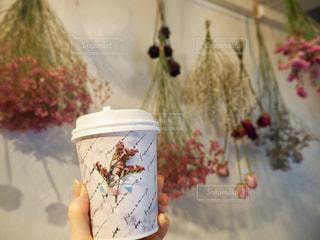 ドライフラワーのあるカフェの写真・画像素材[2817736]