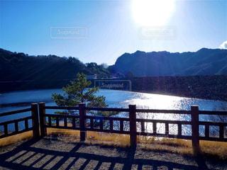 ダム湖の写真・画像素材[2858172]