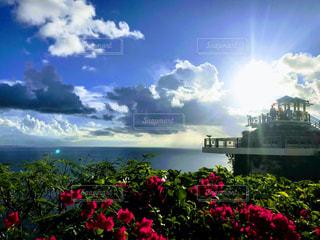 グアムの恋人岬にての写真・画像素材[2859171]