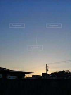 飛行機雲の写真・画像素材[2413604]