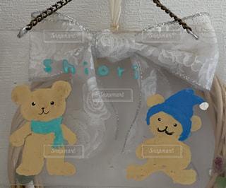 ペン,お絵描き,くま,熊,くまさん,幼稚園児,おえかき,壁掛け,アクリル,クマ,娘の作品,おうち時間,アクリル絵具,透明板