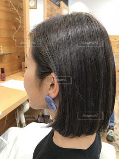 サラツヤヘアーの写真・画像素材[2461152]