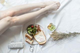 ある日の朝食の写真・画像素材[2500637]