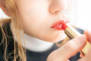 歯を磨く女性のクローズアップの写真・画像素材[2885450]