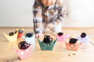 まな板のおもちゃのクローズアップの写真・画像素材[2971278]