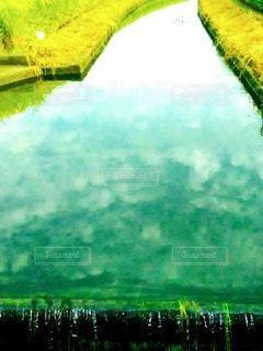 用水路の雲の写真・画像素材[2435962]