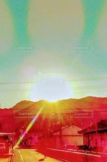 自然,空,太陽,光,絵画,初日の出,冷和