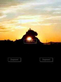 夏の夕暮れの写真・画像素材[4438978]