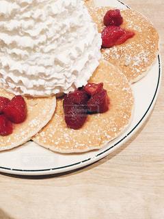パンケーキ,クリーム,おやつ,ホットケーキ,食欲の秋,おやつの時間