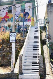 ピアノの階段の写真・画像素材[2164295]