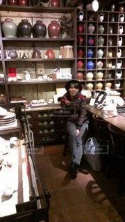 冬の台湾で買い物の写真・画像素材[2834383]