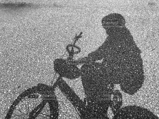 空,自転車,雲,影,人,ナチュラル,フィルム,景観,フィルム写真,フィルムフォト