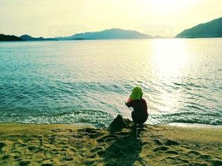 砂浜は巨大な砂場の写真・画像素材[2432696]