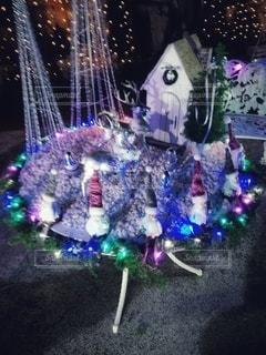 クリスマスイルミネーションの写真・画像素材[2835081]