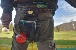 パークゴルフの練習に来たところの写真・画像素材[2702132]