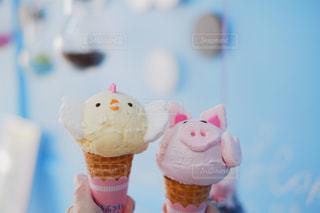 可愛いアイスクリームたちの写真・画像素材[2420746]