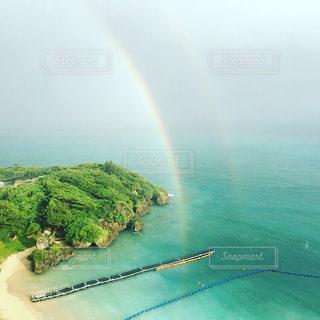 自然,海,夏,ビーチ,海辺,虹,水面,海岸,沖縄,レインボー,フィルム,フィルム写真,フィルムフォト