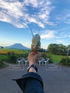 山と山の写真・画像素材[2464949]