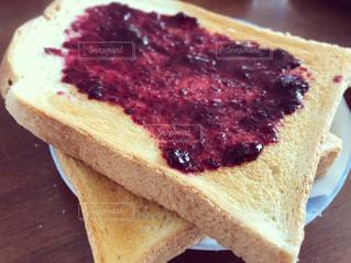 朝食,レトロ,パン,フィルム,フィルム写真,ブルーベリージャム,フィルムフォト,山型パン