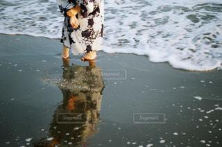 女性,海,夕日,浴衣,フィルム,自然光,フィルム写真,フィルムフォト